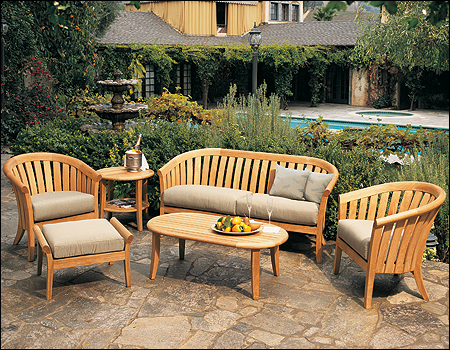 Lenong A Grade Teak Wood 6 Pc Outdoor Garden Patio Sofa Lounge Chair
