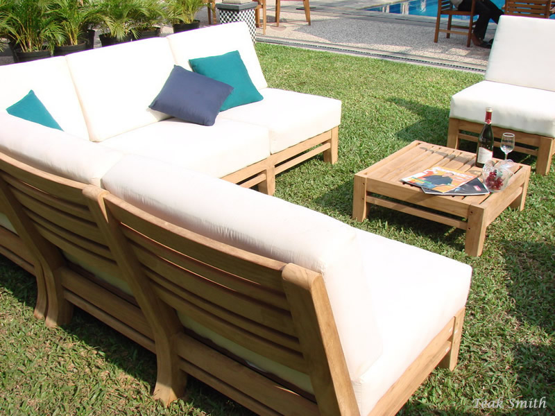 Outstanding Details About Ramled A Grade Teak Wood 7Pc Sectional Sofa Lounge Set Outdoor Garden Patio New Gmtry Best Dining Table And Chair Ideas Images Gmtryco